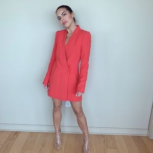Brand new red BCBG long blazer